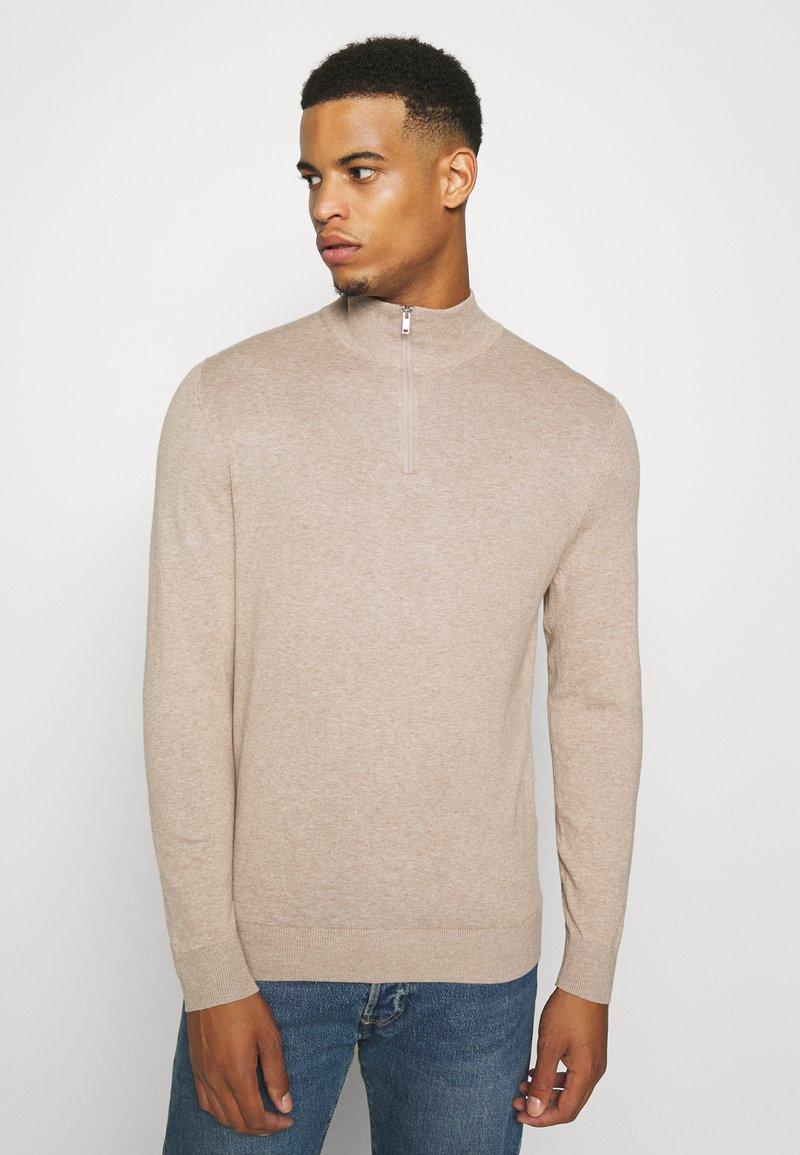 Burton Menswear London - CORE HALF ZIP - Trui - ecru