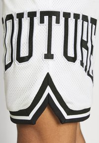 The Couture Club - VARSITY BADGED MESH DROP CROTCH SHORTS - Shorts - off white - 5