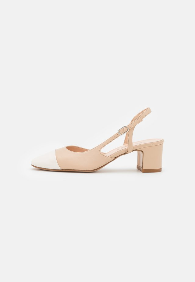 Klassiske pumps - beige/white