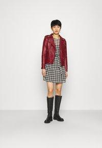 Deadwood - RIVER - Leather jacket - burgundy - 1