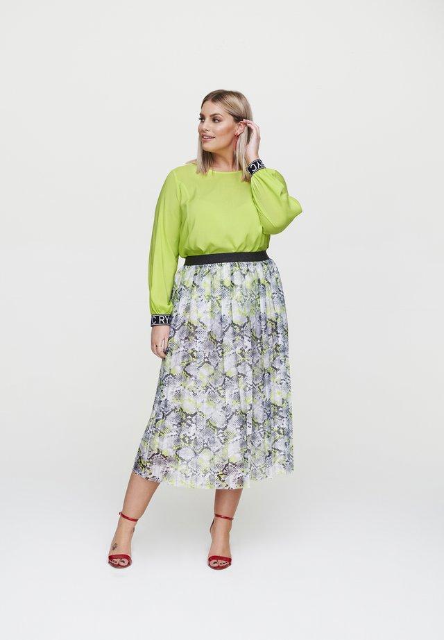 Pleated skirt - hellgrã¼n