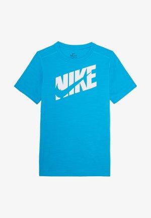 Print T-shirt - laser blue/white