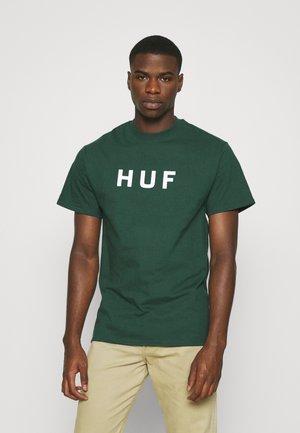 ESSENTIALS LOGO TEE - T-shirt print - dark green