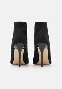 Miss Selfridge - STILETTO - High heeled ankle boots - black - 3