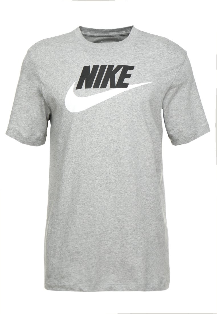 Nike Sportswear Tee Icon Futura - T-shirts Med Print Dark Grey Heather/black/white