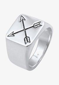 KUZZOI - MATT BASIC PFEIL - Ring - silver-coloured - 2
