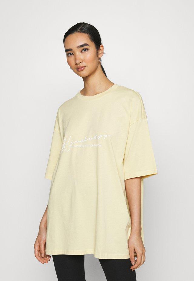 Print T-shirt - yellow light