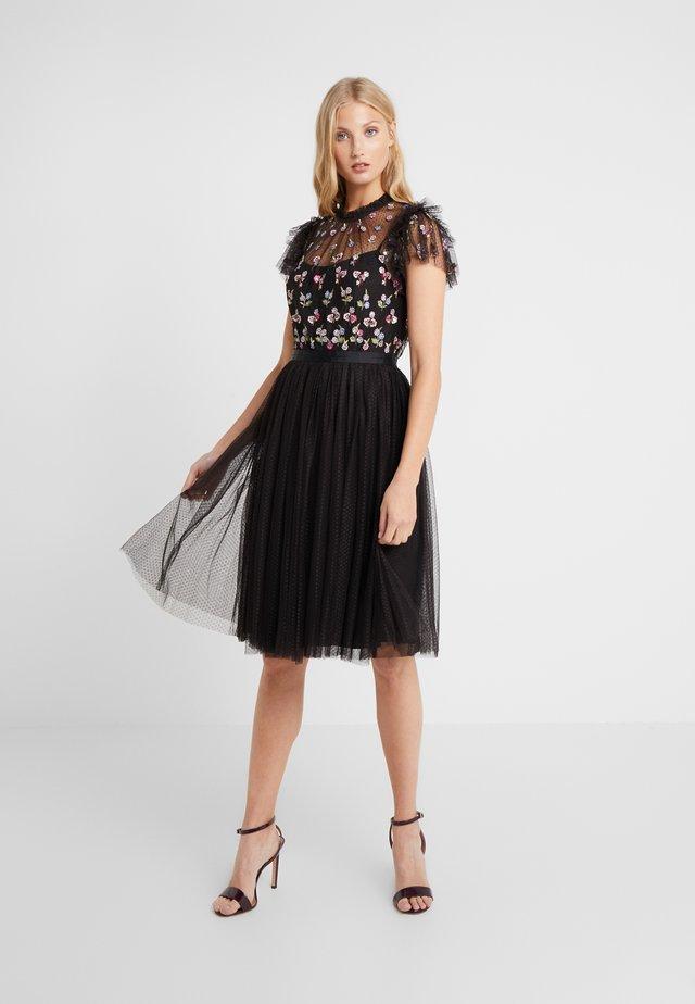 ROCOCO BODICE MIDI DRESS - Vestito elegante - ballet black