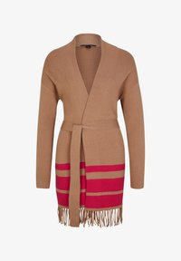 comma - Cardigan - camel placed strip - 4