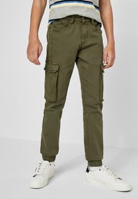 s.Oliver - SKINNY FIT - Cargo trousers - khaki - 0