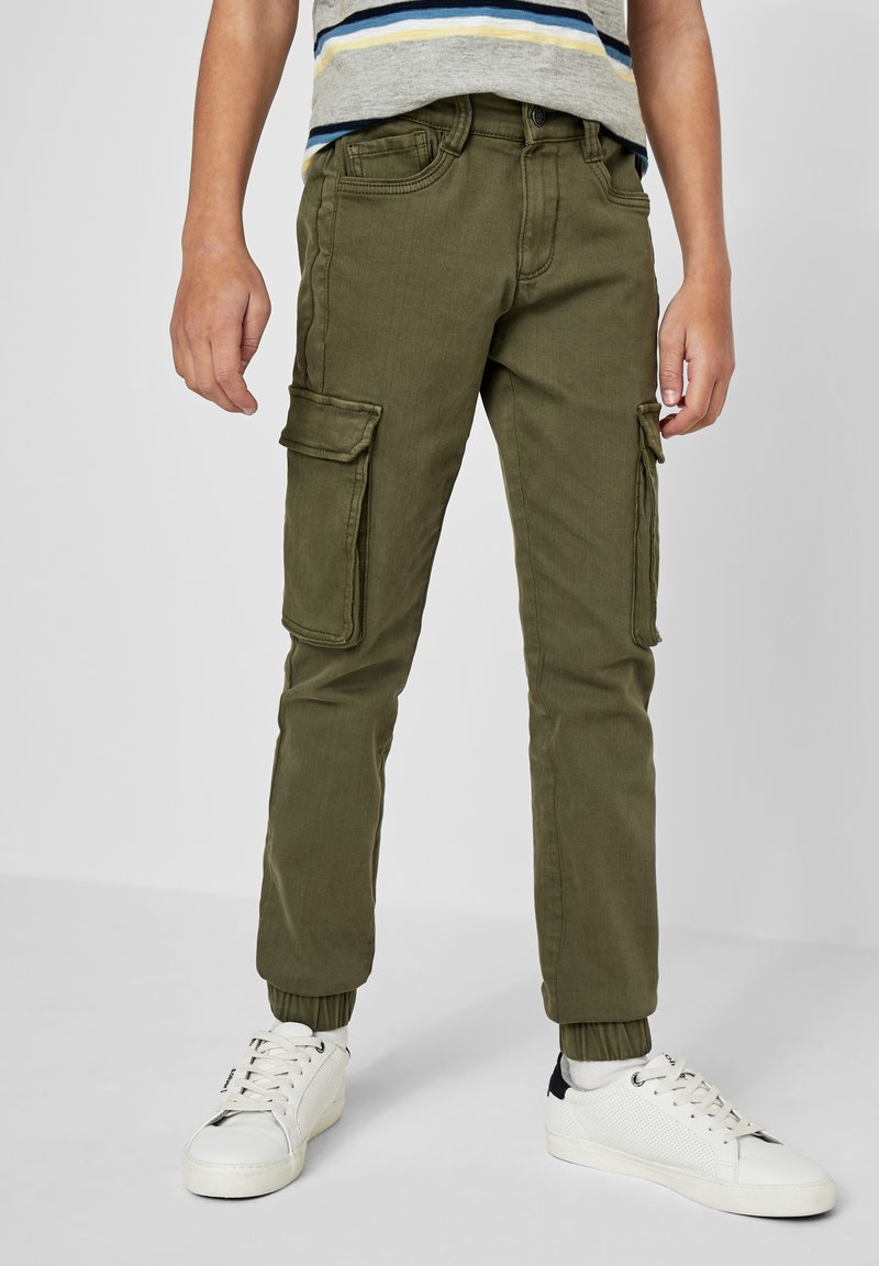 s.Oliver - SKINNY FIT - Cargo trousers - khaki