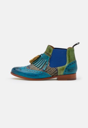 SELINA - Ankle boots - bluette/ultra green/olivine/electric blue/rich tan/natural
