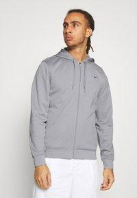 Lacoste Sport - TECH HOODIE - Zip-up sweatshirt - silver chine/elephant grey - 0