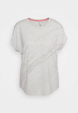 ONPMAURA LOOSE BURNOUT TEE - Print T-shirt - white melange