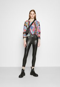 Even&Odd - HIGH WAIST WITH SEAM DETAIL - Trousers - black - 1