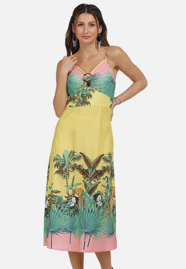 Sukienka letnia - tropical print
