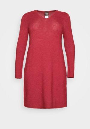 GARDENIA - Gebreide jurk - dark red