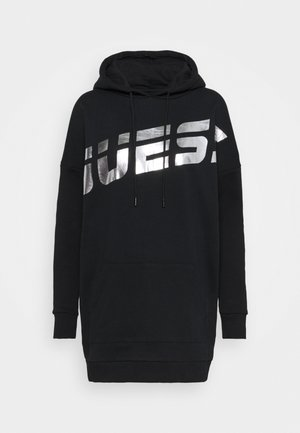 LONG HOODED - Sweatshirts - jet black