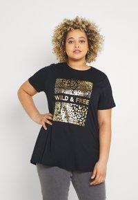 Simply Be - WILD AND FREE FOIL PRINT - Print T-shirt - black - 0