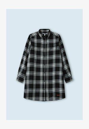 SAMAY - Shirt dress - black/white