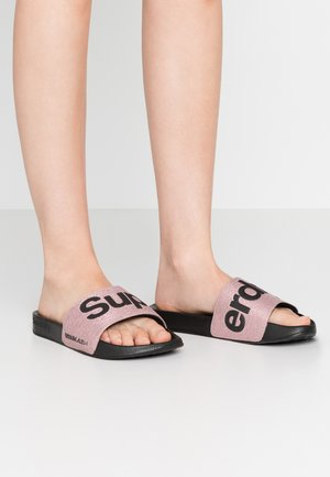 Pool slides - rose gold