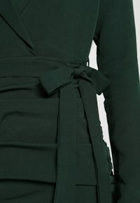 Missguided - RUCHED FRILL HEM - Cocktail dress / Party dress - dark green - 5
