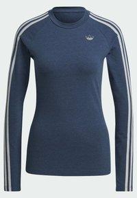 adidas Originals - FAKTEN LONG SLEEVE TEE - Long sleeved top - blue - 7