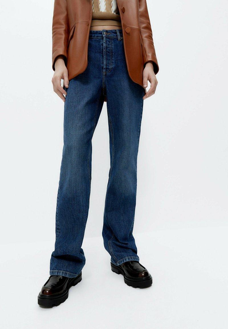 Uterqüe - Široké džíny - blue
