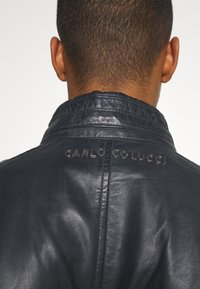 Carlo Colucci - BIKER JACKET - Leather jacket - anthra - 4