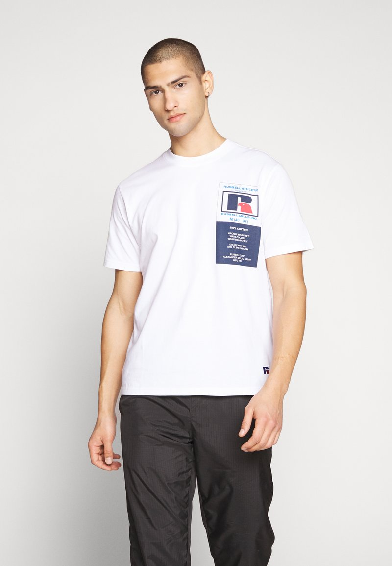 Russell Athletic Eagle R - SCOTT - T-shirt con stampa - white