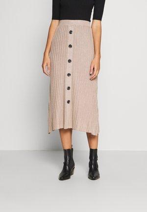 ANI - Maxi skirt - oxford tan melange