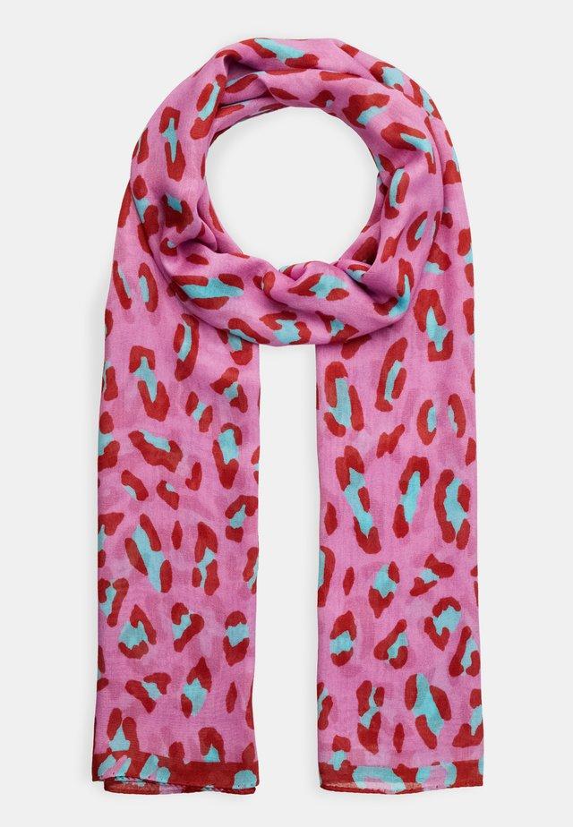 WOMEN SCARF LEOPARD - Sjal - pink