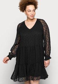 Pieces Curve - PCNUTSI DRESS - Cocktail dress / Party dress - black - 3