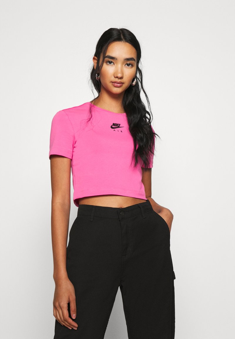 Nike Sportswear - AIR CROP - Triko spotiskem - pinksicle/black