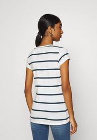 G-Star - CORE EYBEN SLIM - Basic T-shirt - milk/vintage navy - 2