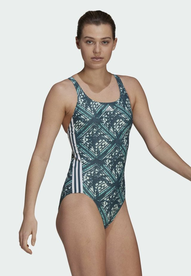 SH3.RO FESTIVIBES 3-STREIFEN BADEANZUG - Swimsuit - turquoise