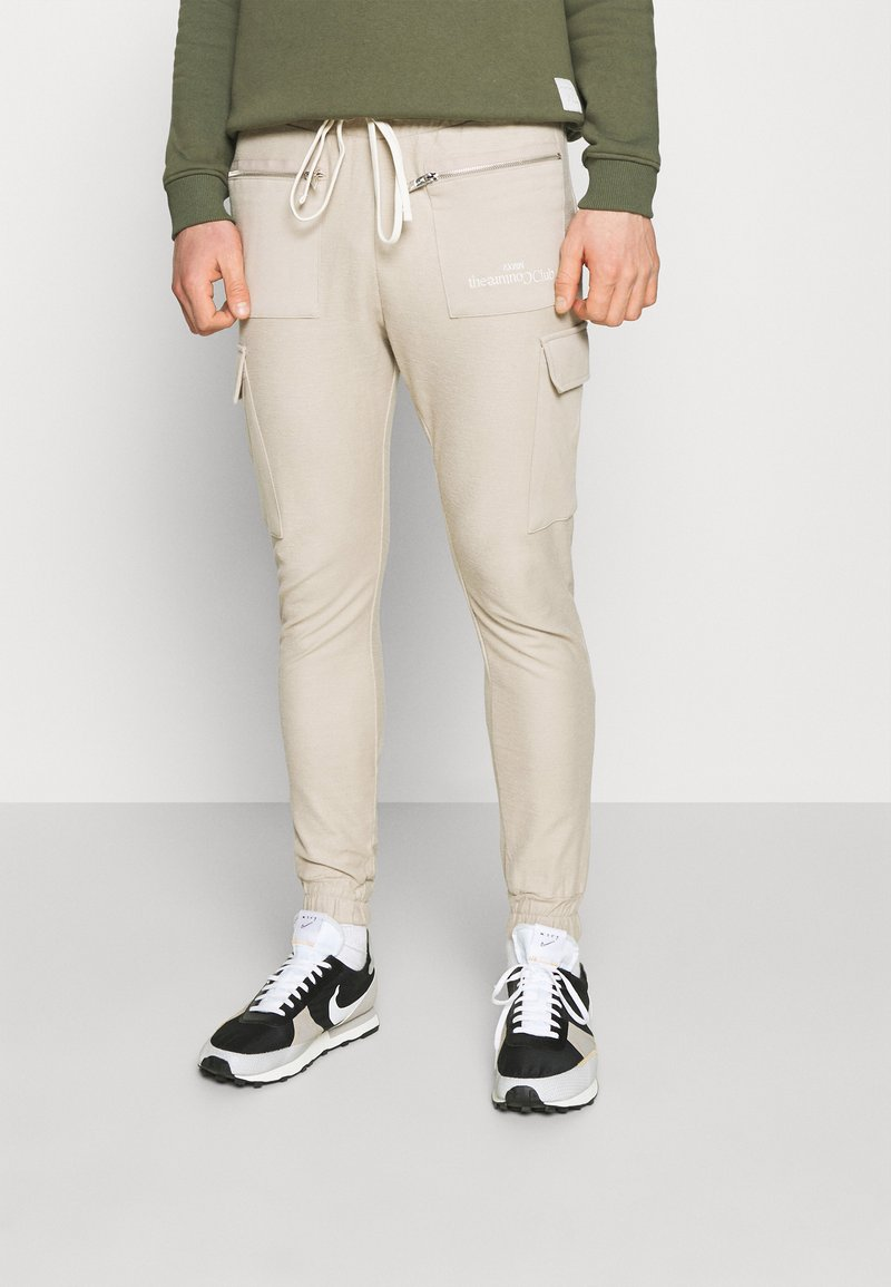 The Couture Club - LOOPBACK JOGGER - Tracksuit bottoms - stone