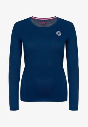 PIA TECH ROUNDNECK LONGSLEEVE - Long sleeved top - dark blue