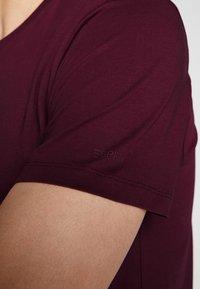 Esprit - Basic T-shirt - bordeaux red - 4
