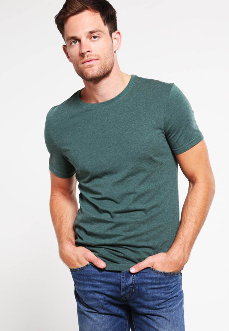 Pier One - Basic T-shirt - green melange