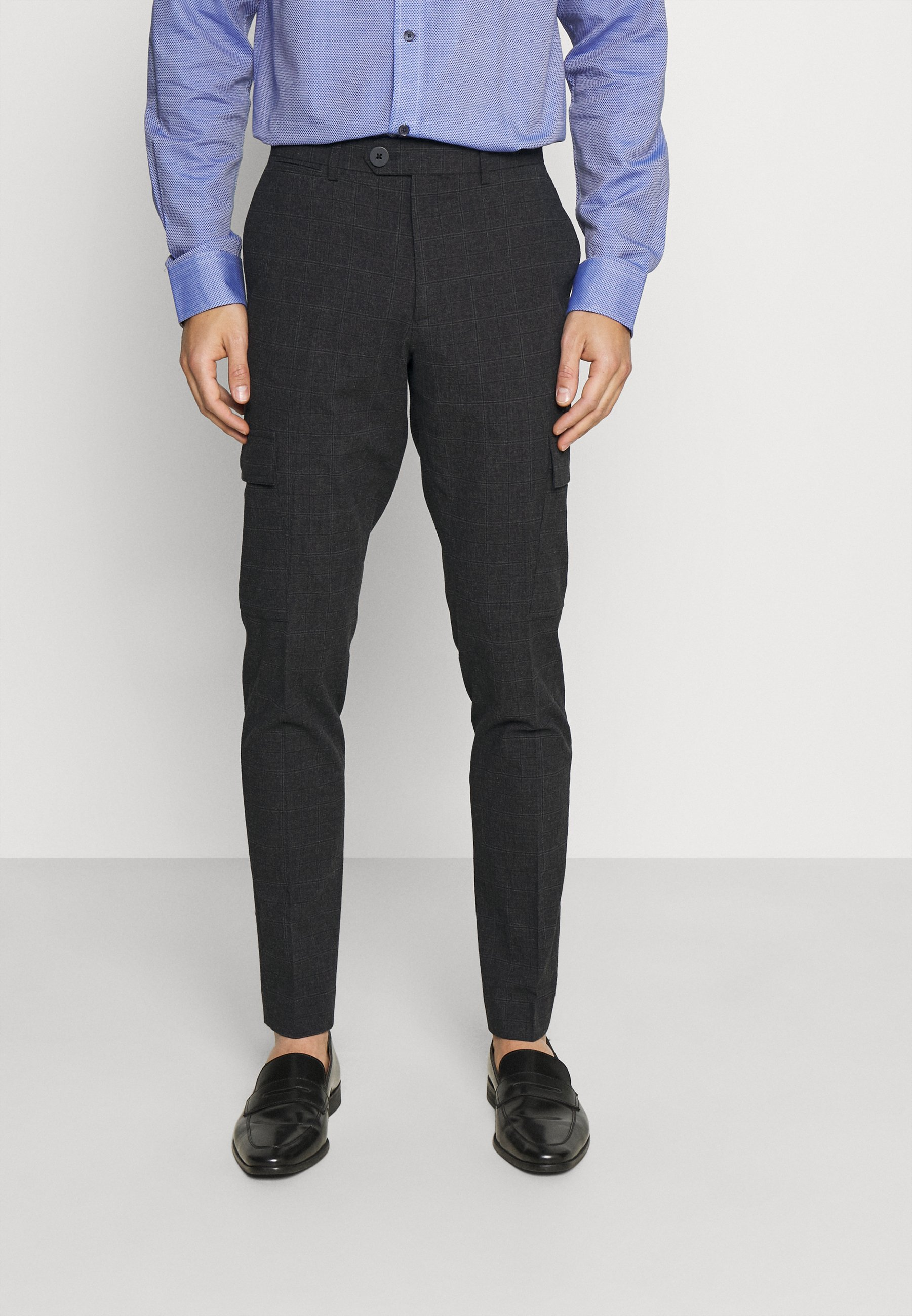 Men JPRSEERSUCKER TROUSER - Trousers