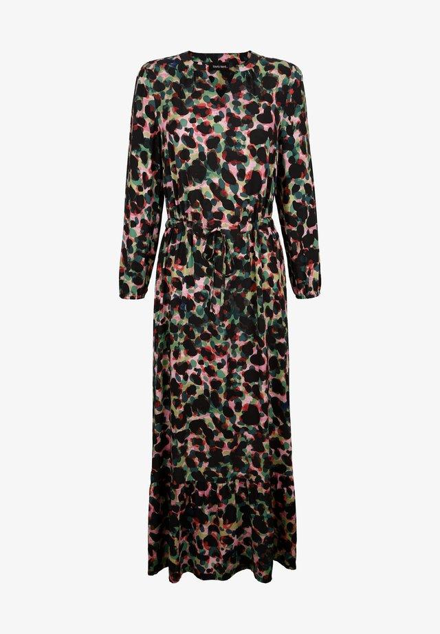 KLEID - Maxi dress - schwarz tannengrün