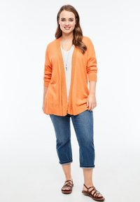 Triangle - MET EEN OPEN VOORPAND - Cardigan - orange - 1