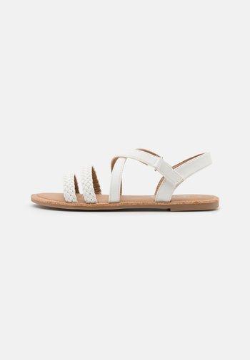 STRAPPY BRAID - Sandals - white