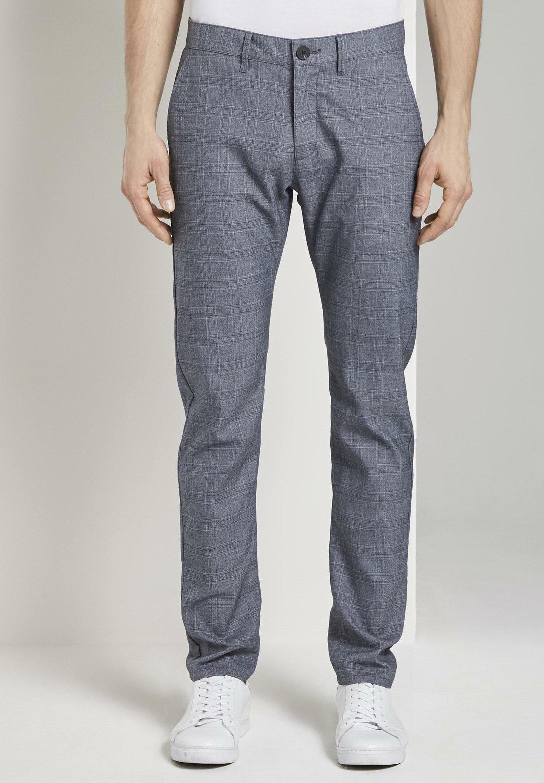 Homme TRAVIS - Pantalon classique - grey/white