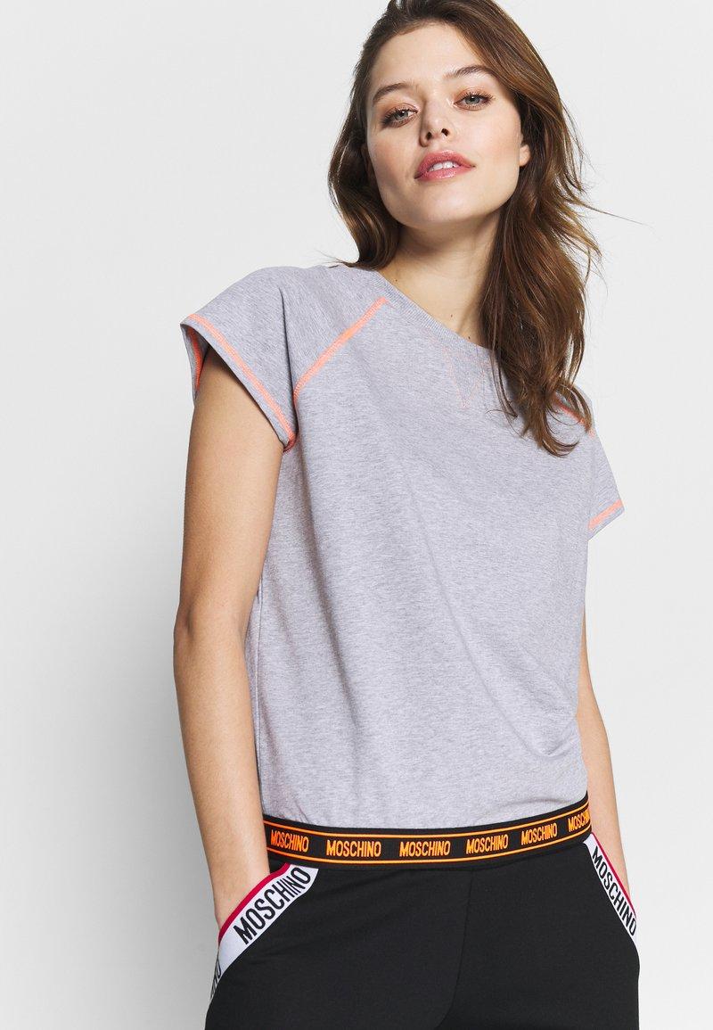 Moschino Underwear - SHORT SLEEVE - Pyjama top - gray melange