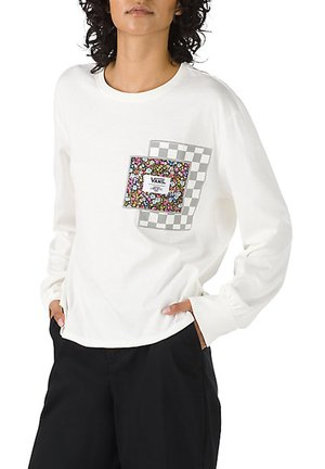 WM VANS MADE WITH LIBERTY FABRIC LS TEE - Long sleeved top - (liberty fabric) mrshmllw
