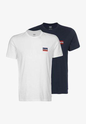 CREWNECK GRAPHIC 2 PACK - Print T-shirt - white/blue