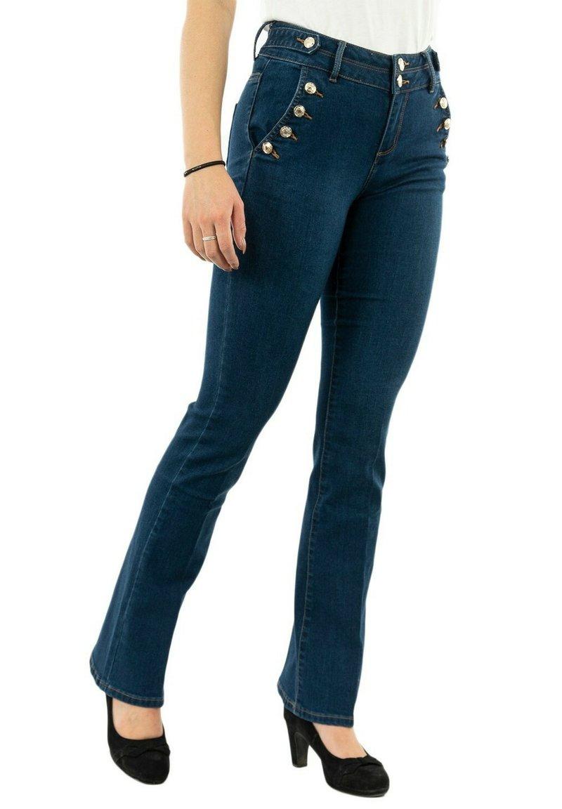 Morgan - Flared Jeans - bleu