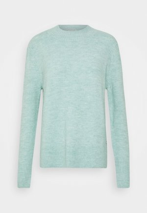 COZY MOCK NECK - Jumper - mineral stone blue melange
